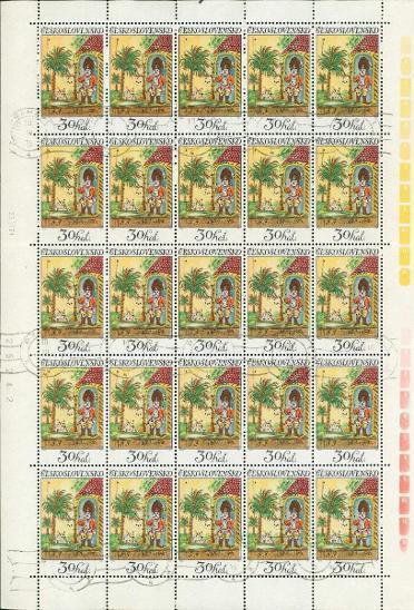 11A22 Kompletní arch známek 30h Československo