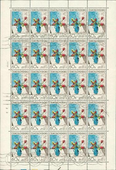 11A23 Kompletní arch známek 60h Československo