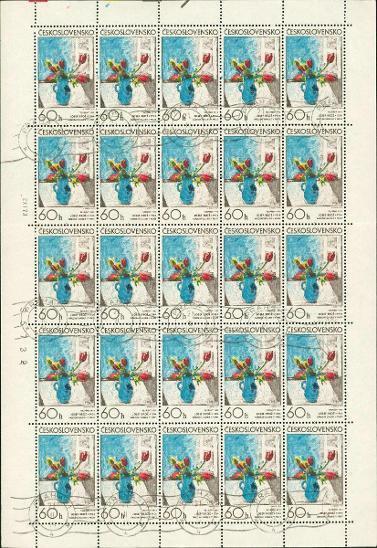 11A26 Kompletní arch známek 60h Československo