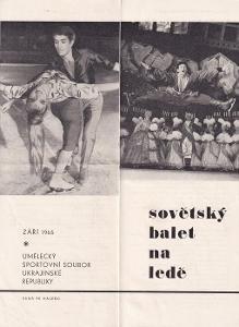 Leták Sovětský balet na ledě, 1965