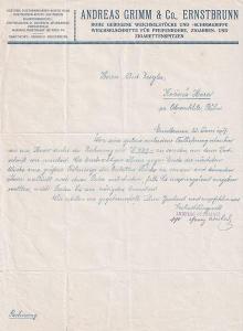 Dopis kuřácké potřeby Grimm, Ernstbrunn