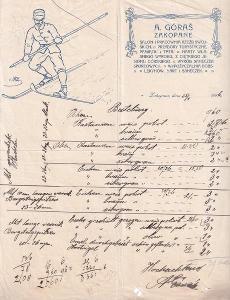 Účet sportovní potřeby Góras, Zakopané