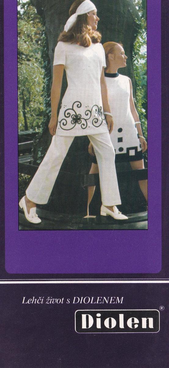Leták pletené zboží Diolen - Antikvariát
