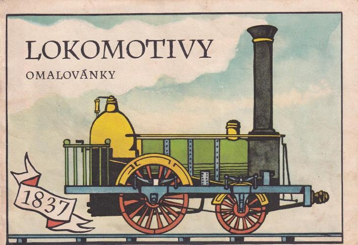 Omalovánky Lokomotivy, M. Váša, Praha - Antikvariát