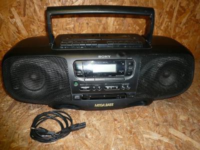 PŘENOSNÉ RÁDIO MAGNETOFON  S CD SONY CFD-380L