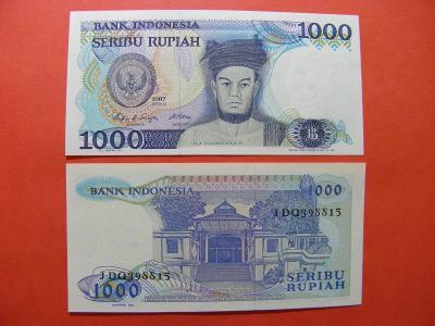 1.000 Rupiah 1987 Indonesia - P124 - UNC -  /X107/