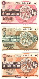 Třídní loterie   47 různé serie