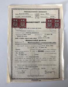 ČSR Starý Dokument (1946) - Čti Popis Aukce