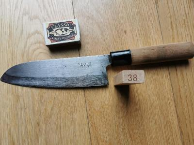 Japonský nůž Santoku se znakem nožíře