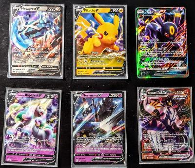 6x Pokemon karta Pikachu Metagross Urshifu UmbreonGX Rapidash Necrozma