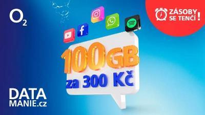 Data Mánie 100Gb měsíčně