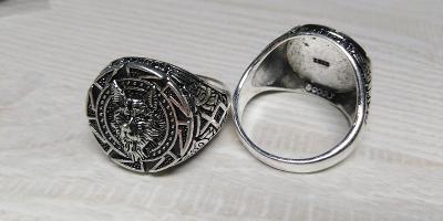 Prsten norský pes vlk 21mm