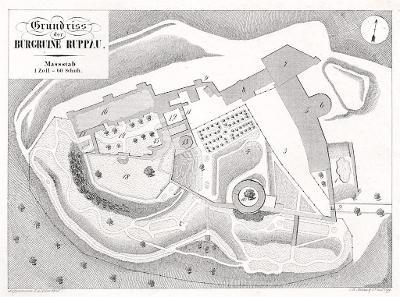 Roupov půdorys, Heber, litografie, 1846