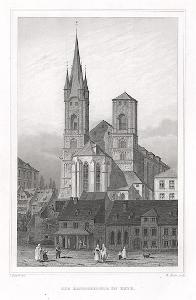 Cheb sv. Mikuláš, Lange, oceloryt, 1842