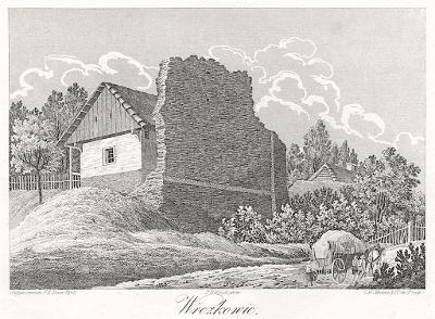 Vřeskovice - Breskovice, Heber , litografie, 1846