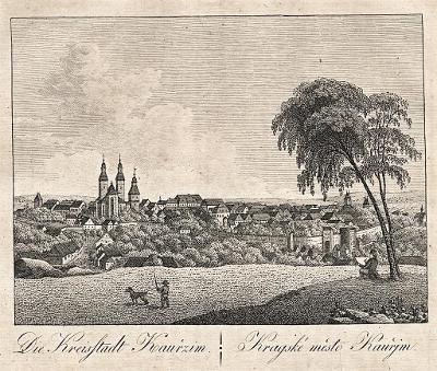 Kouřim, Hyllos, mědiryt , 1820