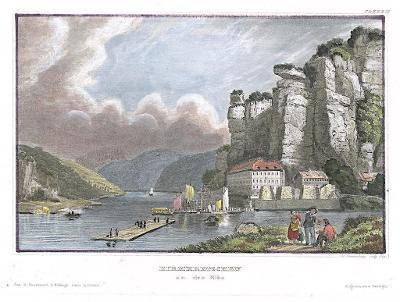 Hřensko, Meyer, kolor. oceloryt, 1850