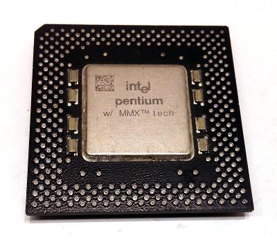 PC MUZEUM - starý procesor Intel Pentium MMX 200MHz - pro sběratele