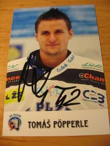 Tomáš Pöpperle - Plzeň - orig. autogram