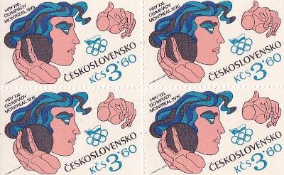 ČTYŘBLOK  - OLYMPIÁDA MONTREAL 1976 - 1-IG97