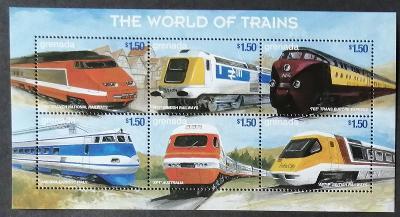 Grenada 1999 Mi.3878-3 8€ Evropské vlaky a lokomotivy