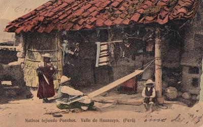PERU - ÚDOLÍ HUANCAYO - INDIÁNÍ U DOMU - 46-AD35