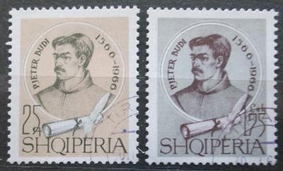 Albánie 1966 Pjetër Budi, spisovatel Mi# 1098-99 Kat 3.50€ 0619