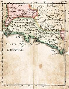 Genova, kolor.  mědiryt, (18 stol.)