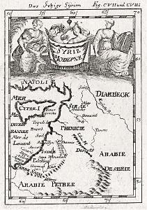 Sýrie II., Mallet, mědiryt, 1719