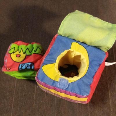 Dětská textilní kostka s překvapením SASSY 6 cm