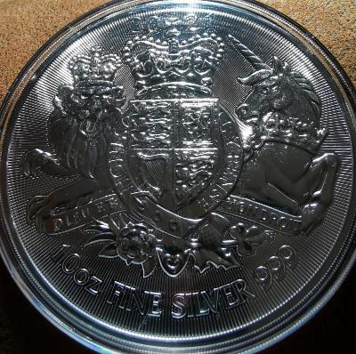 stříbrná mince The Royal Arms (Královské erby) 2021, 10 Oz