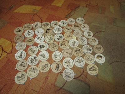 Turistické známky 50 ks
