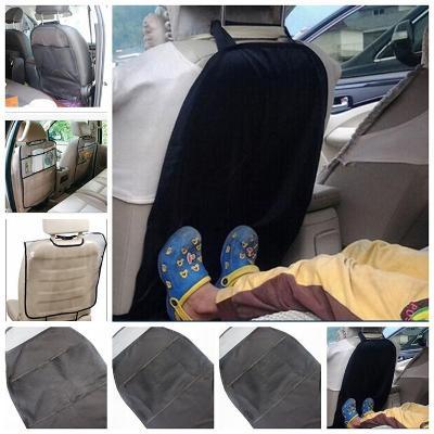 Černý ochranný potah na zadní stranu přední sedačky OP01