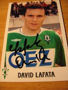 David Lafata - Jablonec - orig. autogram
