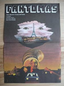 Fantomas (filmový plakát, film Francie 1964, režie Andr