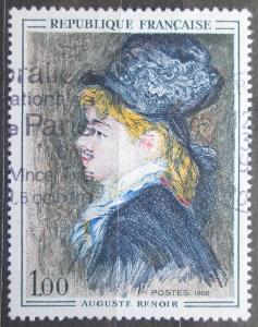 Francie 1968 Umění, Pierre-Auguste Renoir Mi# 1643 0622