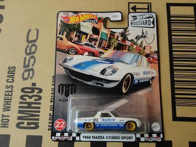 Hot Wheels 1968 Mazda Cosmo Sport.Rozbalený.Krabička je otevřena.