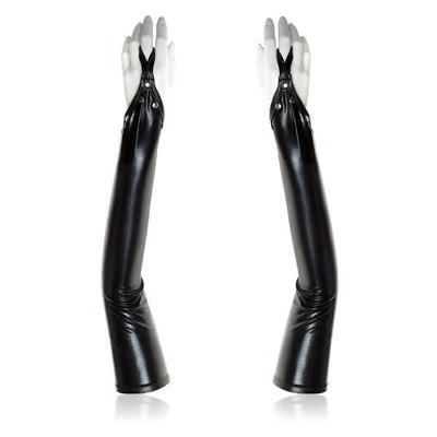 Sexy dlouhé rukavice bez prstů s cvočky 10079