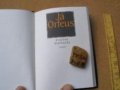 JULIUSZ SLOWACKI: JÁ ORFEUS. 100 x 140 mm. V kůži. 1987