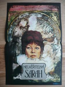 Neuvěřitelná Sarah (filmový plakát, film VB 1976, rež