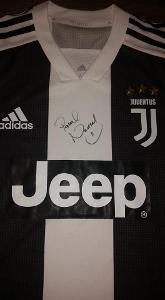 Dres Adidas fotbalového klubu Juventus Turín - podpis Pavel Nedvěd