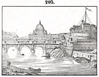 Roma St. Angelo, litografie, (1860)