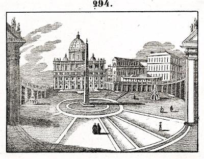 Roma San Pietro, litografie, (1860)