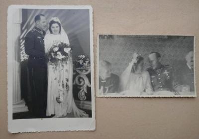 2x foto voják VLÁDNÍ VOJSKO !!! na své svatbě