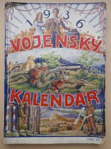 starý VOJENSKÝ KALENDÁŘ - rok 1936 !!! celkem 240 stran