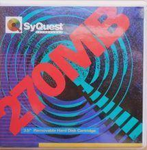 Vzácná páska Syquest 270MB spíš pro sběratele Made in Singapore c 1992
