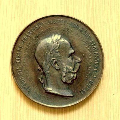 František Josef I. ,Český Lev , Čechie , velká medaile, 65x5mm
