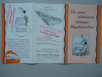 """Die ganz elektrisch """"Savage"""" Bügelmaschine........J.Grossmann-M.Ostrau"""