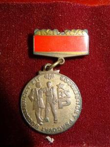 medaile Vyznamenání člen brigády socialistické práce