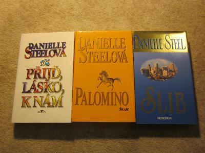 3× Danielle Steel / Steelová (Palomino, Přijď lásko k nám, Slib)
